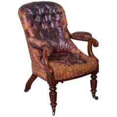 William IV Leather Armchair, circa 1835