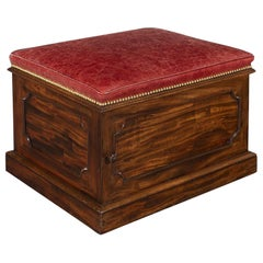 William IV Mahogany and Leather Ottoman Stool