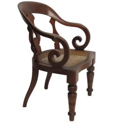 William IV Mahogany Barber's or Dentist's Chair, England, circa 1830