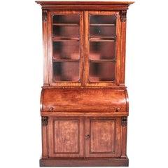 William IV Mahogany Cylinder Bookcase