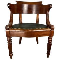 William iv Mahogany Desk Chair, Early 19th Century