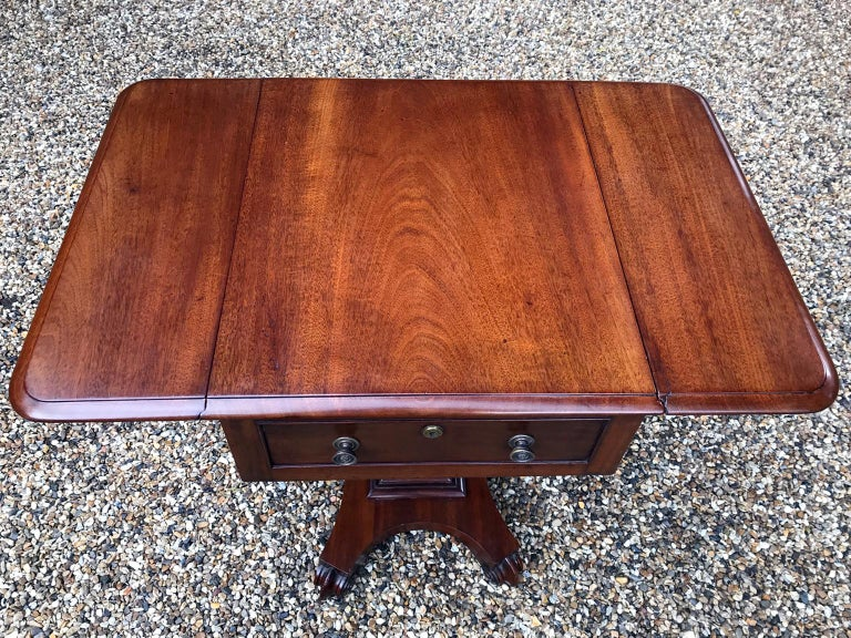 William IV Mahogany Drop-Leaf Work Table For Sale 2
