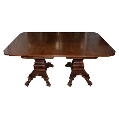William IV Mahogany Extending Dining Table with Lions Paw Feet, 19th Century