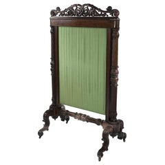 William IV Mahogany Fire-Screen Attributed to Gillows