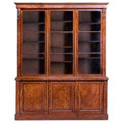 William IV Mahogany Glazed Bookcase