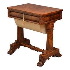 William IV Mahogany Sewing Table, circa 1830