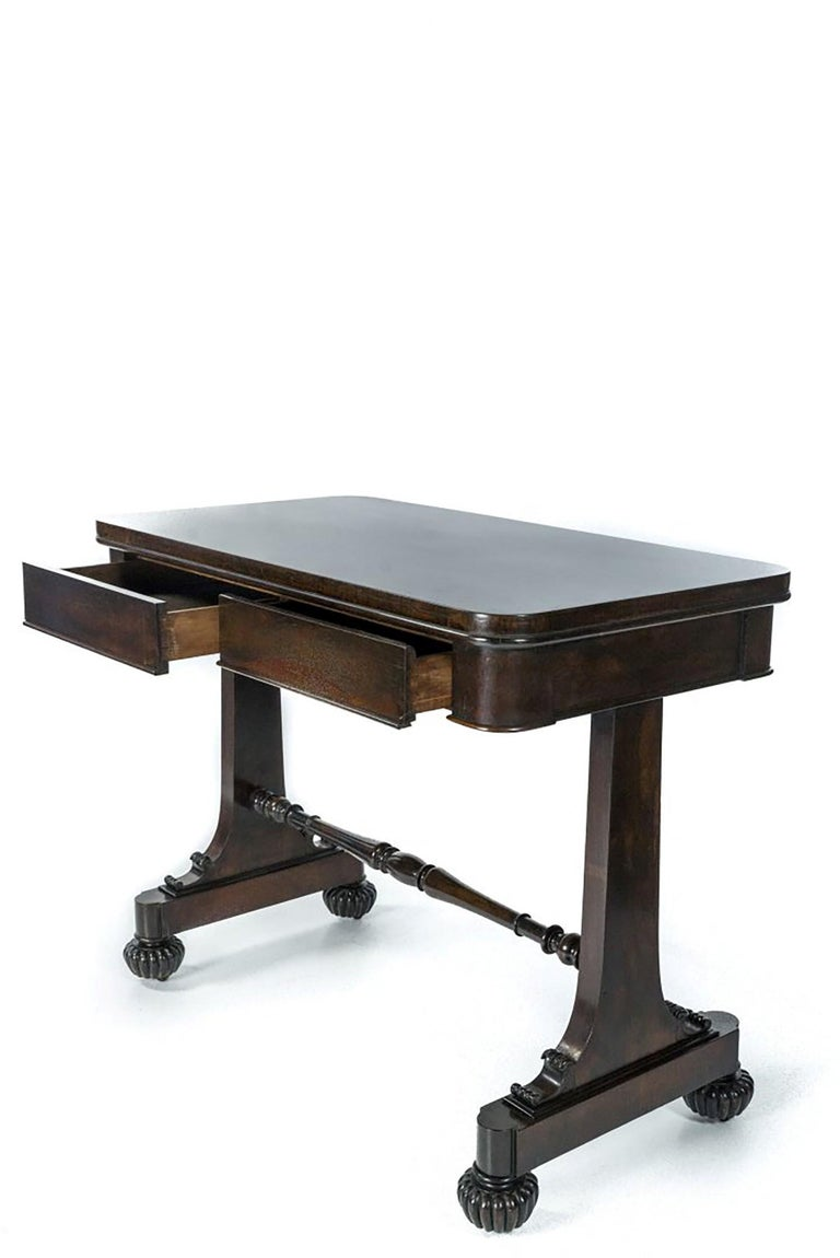 British William IV Mahogany Side Table, circa 1835, Signed Gillows of Lancaster For Sale