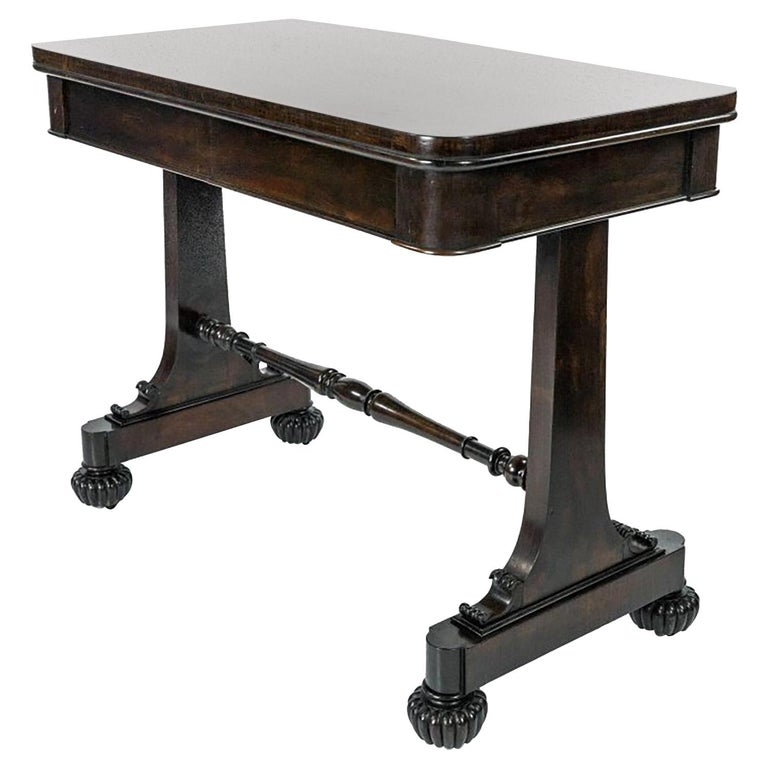 William IV Mahogany Side Table, circa 1835, Signed Gillows of Lancaster For Sale