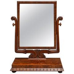 William IV Mahogany Toilet Mirror