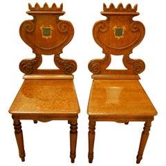 William IV Oak Hall Chairs
