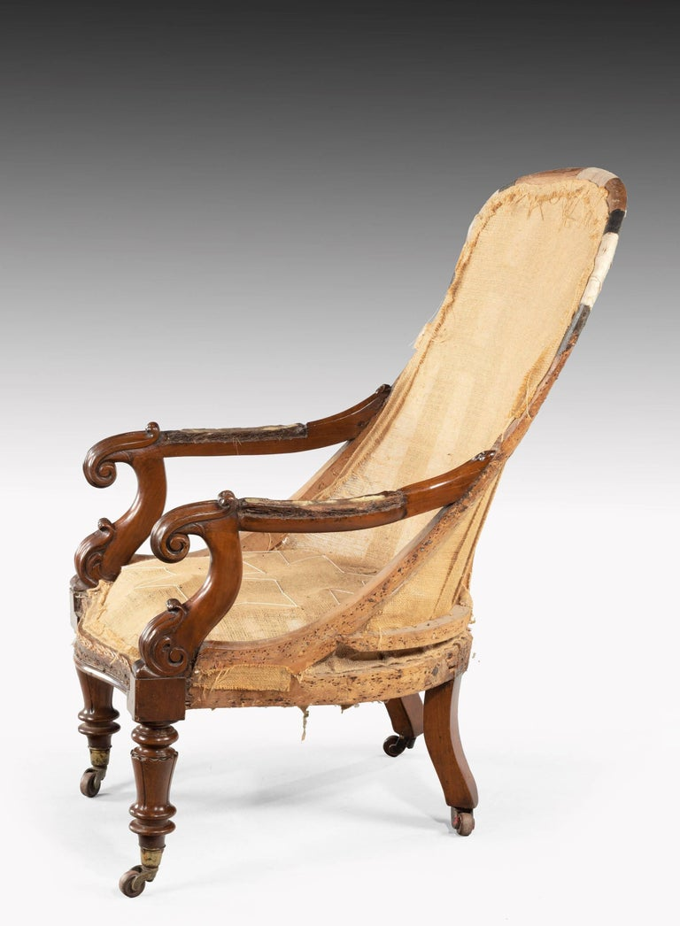 English William IV Period Library Chair For Sale