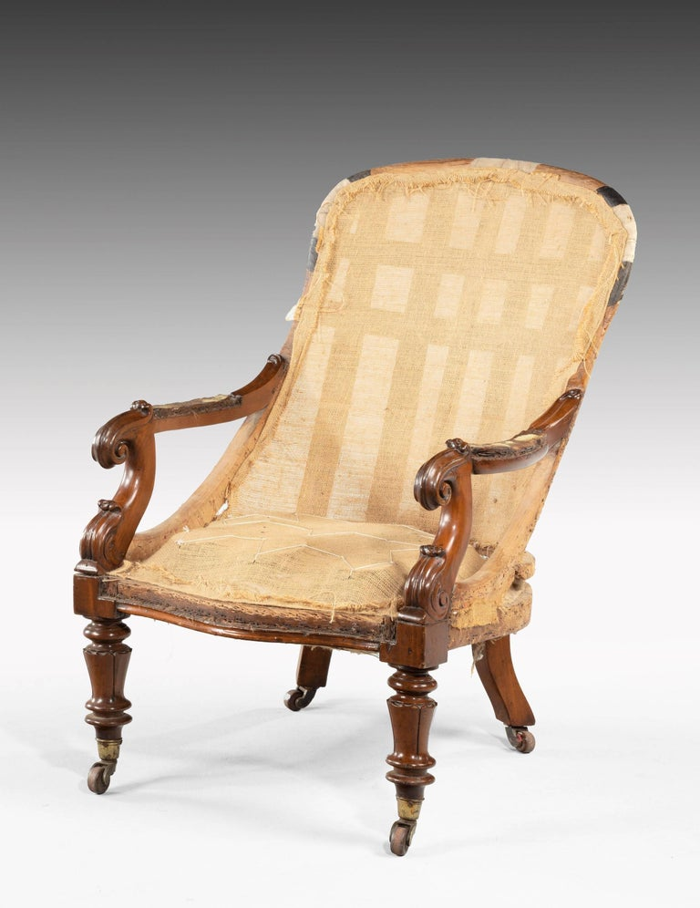 William IV Period Library Chair For Sale 1