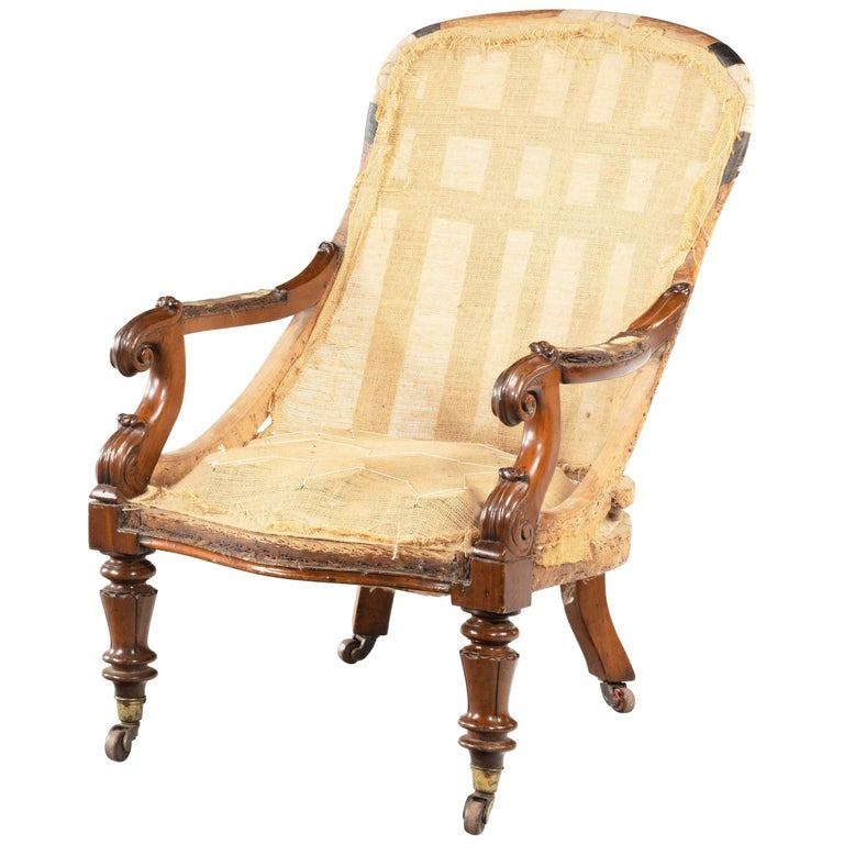 William IV Period Library Chair For Sale