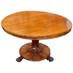 William IV Rosewood Breakfast Table Tilt Top Dining