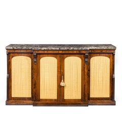 William Iv Rosewood Breakfront Side Cabinet
