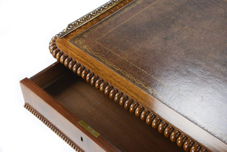 William IV Rosewood Library or Writing Table Firmly Attributed to Gillows For Sale 1