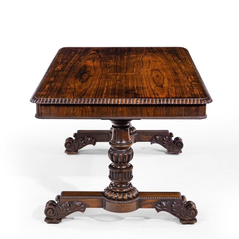 William iv Rosewood Partners' Library Table by Gillows In Good Condition For Sale In Lymington, Hampshire