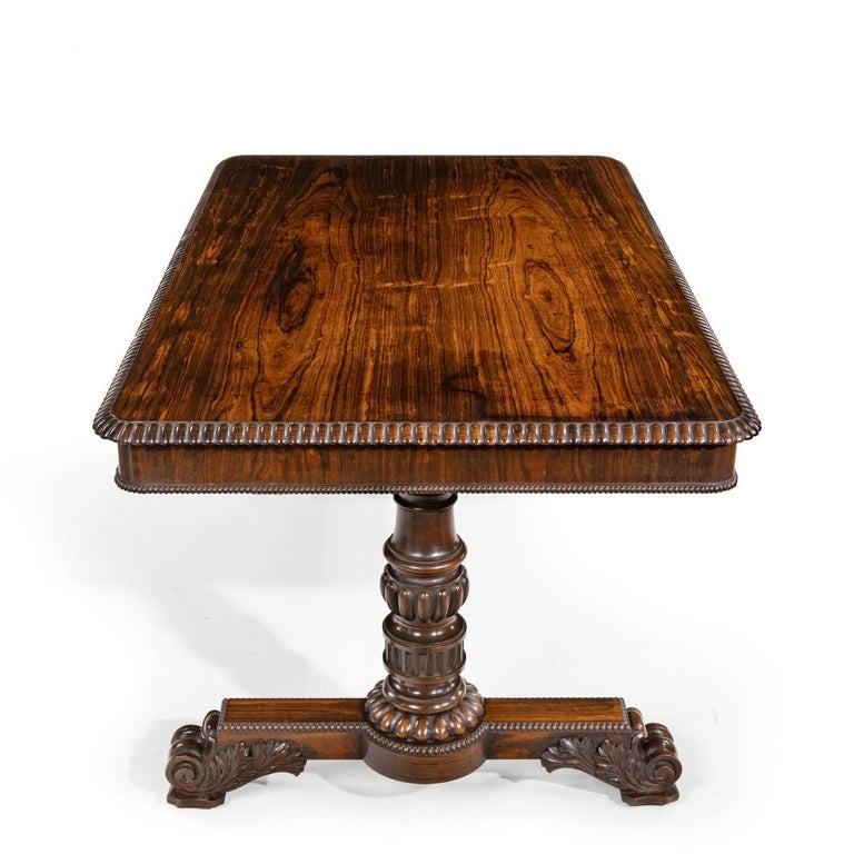 Mid-19th Century William iv Rosewood Partners' Library Table by Gillows For Sale