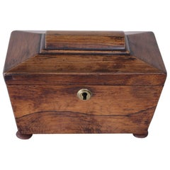 William IV Rosewood Tea Caddy