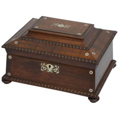 William IV Sarcophagus Jewelry Box in Rosewood