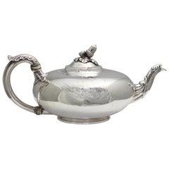 William IV Silver Tea Pot, Paul Storr for Storr & Mortimer, London, 1832