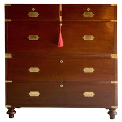 William IV Teak Military Campaign Chest of Drawers, circa 1820 Number 24