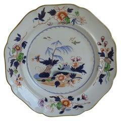 William IVth John Ridgway large ironstone Dinner Plate Pattern 5053, Ca 1835