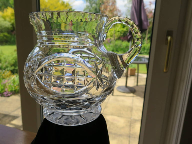 Hand-Crafted William IV Water Jug or Pitcher Crystal Cut-Glass, Anglo-Irish, circa 1835 For Sale
