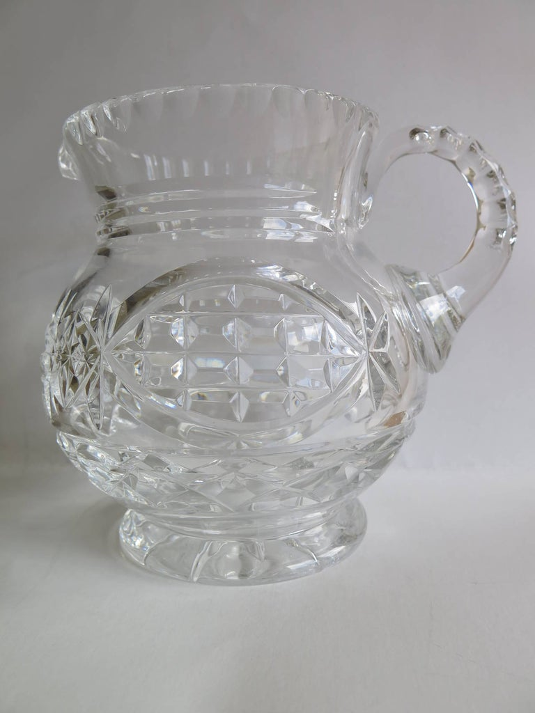 19th Century William IV Water Jug or Pitcher Crystal Cut-Glass, Anglo-Irish, circa 1835 For Sale