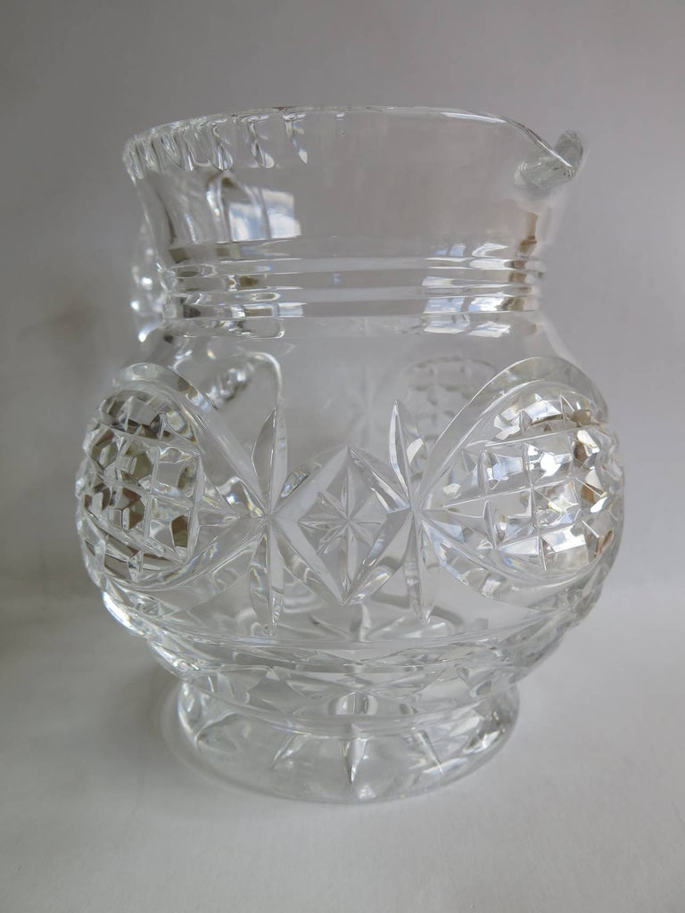 Cut Glass William IV Water Jug or Pitcher Crystal Cut-Glass, Anglo-Irish, circa 1835 For Sale