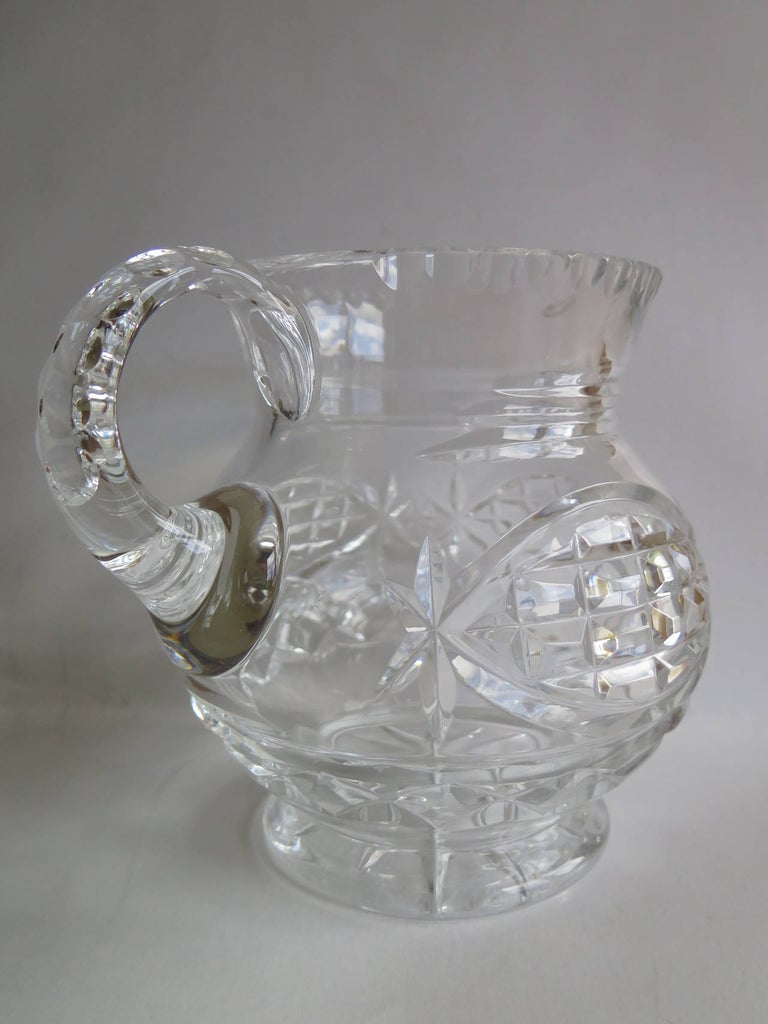 William IV Water Jug or Pitcher Crystal Cut-Glass, Anglo-Irish, circa 1835 For Sale 1