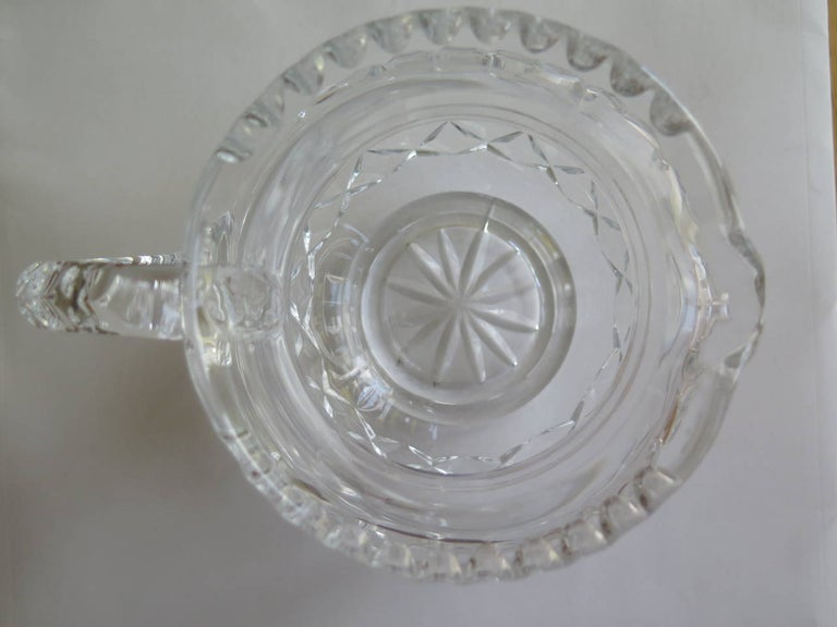 William IV Water Jug or Pitcher Crystal Cut-Glass, Anglo-Irish, circa 1835 For Sale 2
