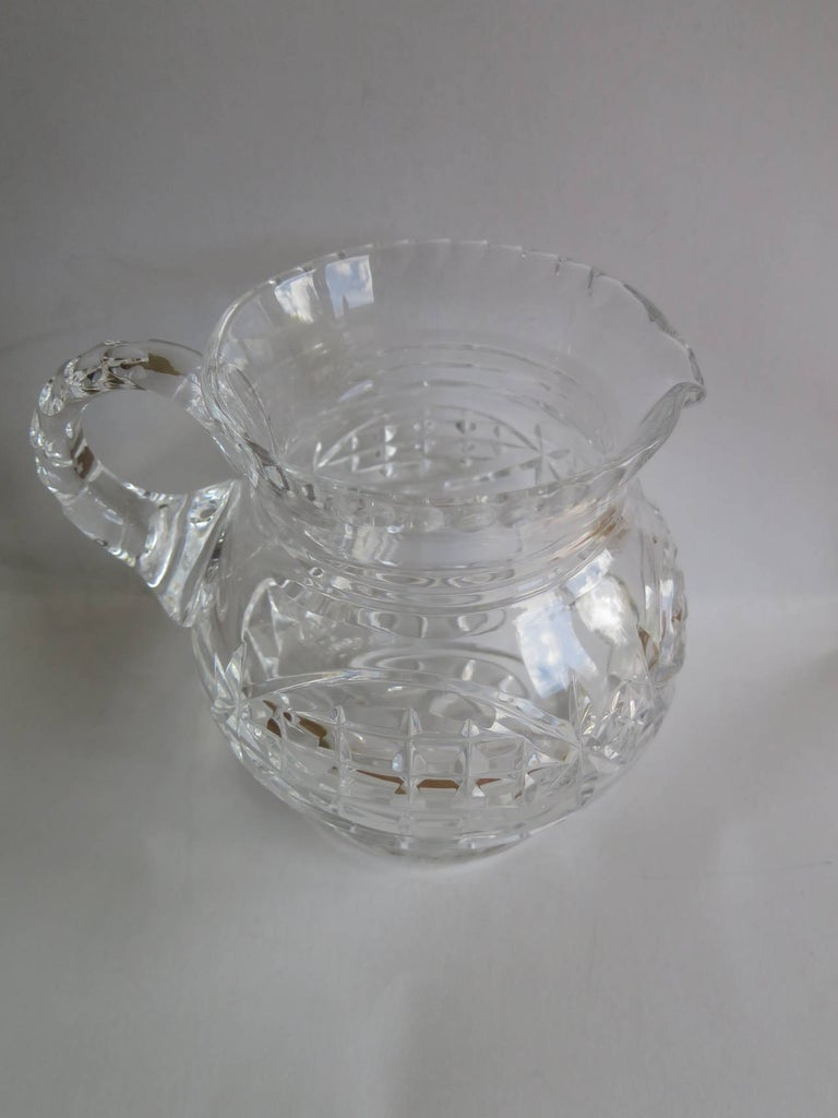 William IV Water Jug or Pitcher Crystal Cut-Glass, Anglo-Irish, circa 1835 For Sale 3