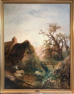 Huge 19thC Irish Oil Painting, County Donegal