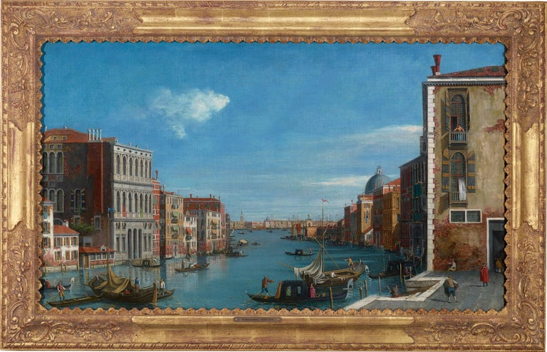 View of the Grand Canal, Venice - Painting by William James
