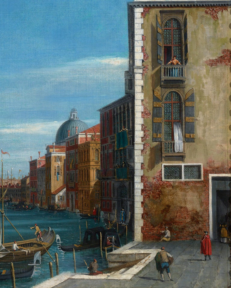 View of the Grand Canal, Venice - Blue Landscape Painting by William James