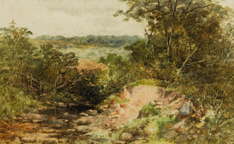 Attributed to William James Walker (1831-1898) - 19th Century Oil, Woodland - Brown Figurative Painting by William James Walker