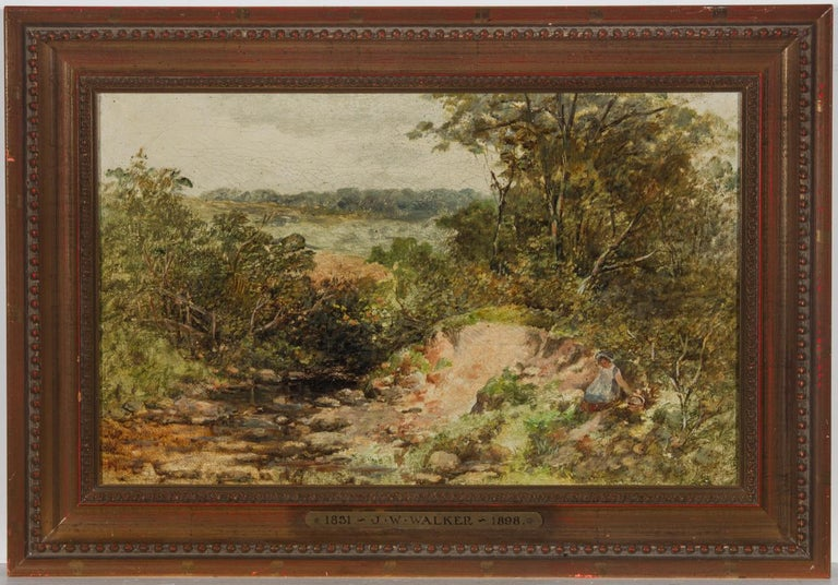 Attributed to William James Walker (1831-1898) - 19th Century Oil, Woodland - Painting by William James Walker