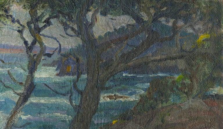 Point Lobos, California - American Impressionist Painting by William John Edmondson
