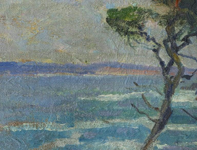 Point Lobos, California - Gray Landscape Painting by William John Edmondson