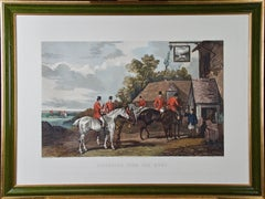 "A Colored Lithograph of an Equestrian Hunting Scene, ""Returning From The Hunt"""