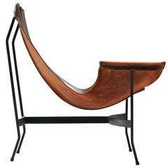 William Katavolos Leather Smoker Chair for Leathercrafter