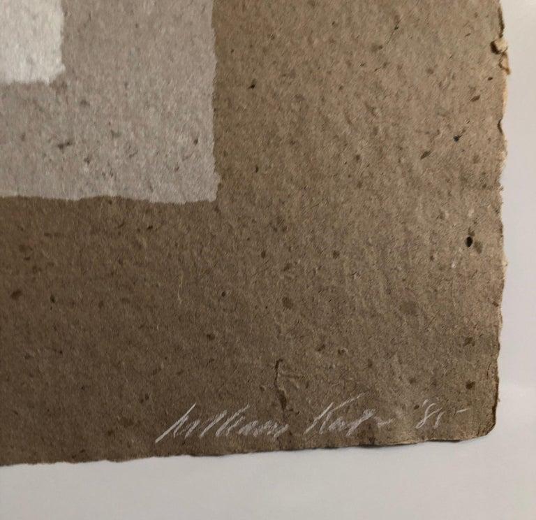 Ampersand (&) Abstract Geometric Silkscreen on Handmade Kenzo Paper For Sale 1