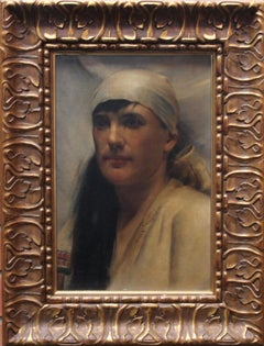 The Arab Girl - Scottish Glasgow Boy art 19thC Orientalist portrail oil painting
