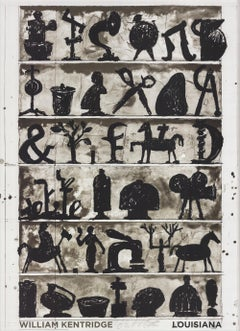 2017 William Kentridge 'Page, 2017' Contemporary Denmark Offset Lithograph