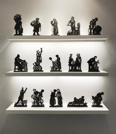 Processione di Riparazioniste - Contemporary, Lasercut sculptures by Kentridge