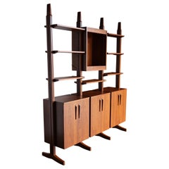 William Ketelle Handcrafted Freestanding Wall Unit, 1971