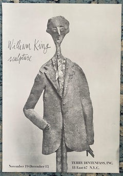 Vintage Lithograph Poster William King Terry Dintenfass Gallery NYC