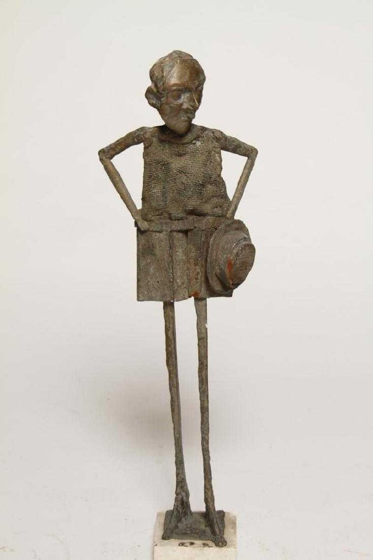 William King (b.1925) Figurative Sculpture - 1960s Pop Art Unique Cast Bronze Sculpture Americana Folk Art William King