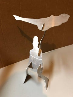 The Test, Assembled Kinetic Modernist Sculpture Puzzle Construction